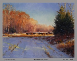 Winter Grazers 11x14